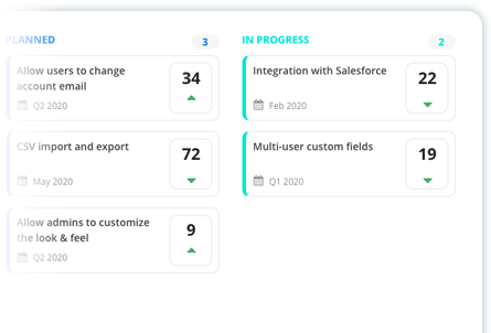 The roadmap will let your users know what you are working on
